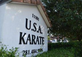 usa karate houston sign